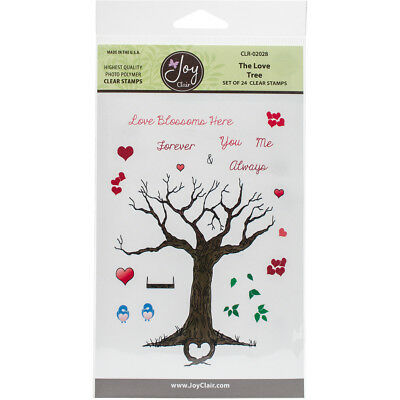 "Joy Clair CLR2028  Clear Stamps 4""X6""-Love Tree"