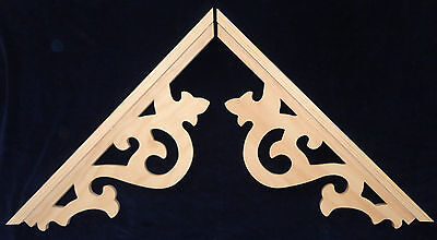 L&Gs Victorian Gingerbread Gothic Fretwork  Pine Exterior Wood Gable End Trim