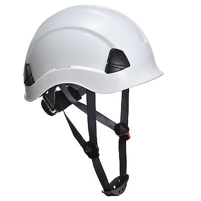 White climbing hard hat safety helmet height rescue abseiling petzl style