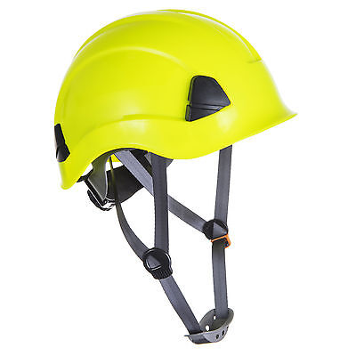 Yellow climbing hard hat safety helmet height rescue abseiling petzl style