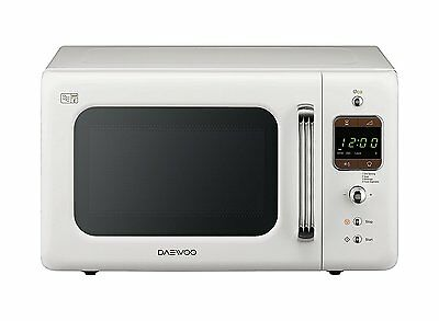 Daewoo 800W White 20L Retro Collection Microwave - KOR7LBKW