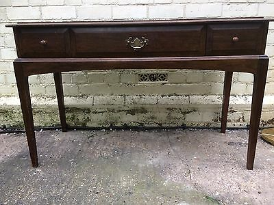 Mid Century Stag Dressing Table Mahogany Triple Drawer 1960s 1970s