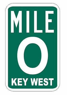 Mile Marker 0 Sticker Decal R1078 Key West Highway Sign YOU CHOOSE SIZE