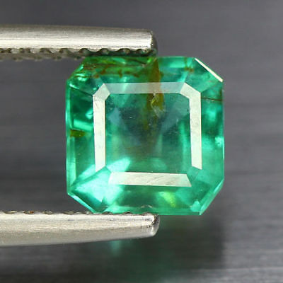 """1.70 Cts_World Class Top Green_100 % Natural """" Colombian """" Emerald_Gemstone"""