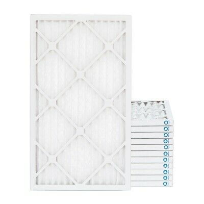 16x25x1 MERV 8 Pleated AC Furnace Air Filters. 12 Pack