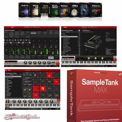 IK Multimedia SampleTank MAX - Sample-Based Virtual Instrument Software Bundle