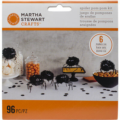 Martha Stewart M4820414 Spider Pom-Pom Kit Makes 6-Spooky Night