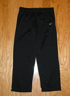 Nike Therma Fit Track Pants NWOT Size XL Athletic Drawstring Warmup Black Womens