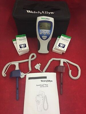 WELCH ALLYN SureTemp Plus 692 Thermometer w/Oral & Rectal Probes w/Case Unit 2