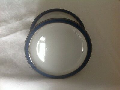 Denby Imperial blue tea plate 6.75 inch x 2 good condition