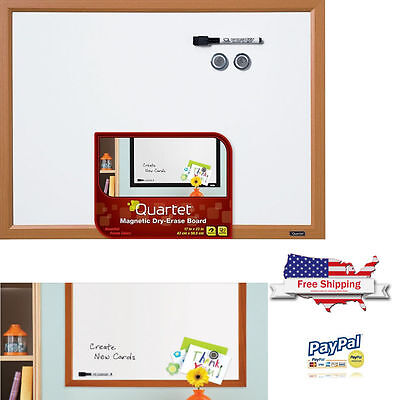Magnetic Dry Erase Message Wall Smooth Writing Hanging Memo Frame White Board