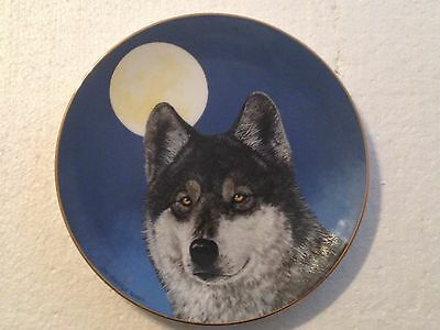 Collectable Wolf Plate 8 1/4 Inches - Nightwatch - Princeton Gallery