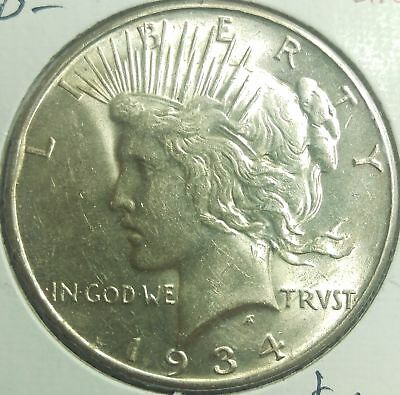 "4 Coin Date Run/""/""1922-3-4-5** Peace Silver Dollar ~ Nice Unc/'s*Original Luster*"