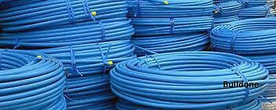 20mm 25mm 32mm Coil Blue MDPE Cold Water Mains Supply Pipe 25m 50m 100m 150m