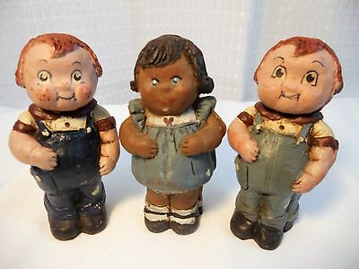 Sarah's Attic Campbell Kids Archie Little Girl & Red Head Boy Made in USA 1987
