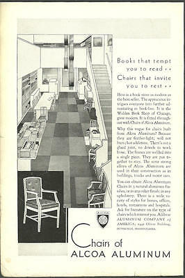 1931 vintage furniture ad, Chairs of ALCOA ALUMINUM-  041613