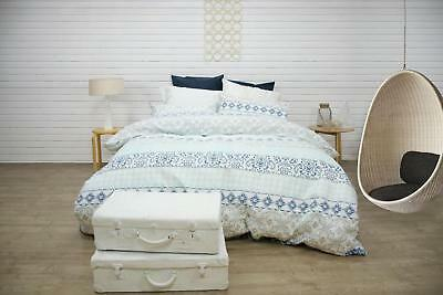 Ardor Boudoir Harland Blue Quilted Quilt Cover Set