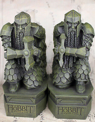 NEW-The-Hobbit-2-The-Desolation-of-Smaug-Lonely-Mountain-dwarf-statue-Bookends