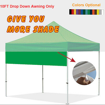 Eurmax Ez Pop Up Canopy Accessory 10FT Tent Drop Down Awning for Party Shade  sc 1 st  PicClick : coleman instant canopy screenwall accessory - memphite.com