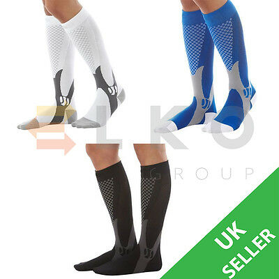 Outdoor Running Sport Leg Calf Support Stretch Sleeve Graduate Compression Socks