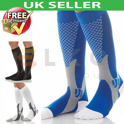 Running Outdoor Sport Leg Calf Support Stretch Sleeve Graduate Compression Socks