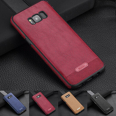 Shockproof Hybrid Slim Thin PU Leather TPU Case Cover for Samsung Galaxy S8 Plus