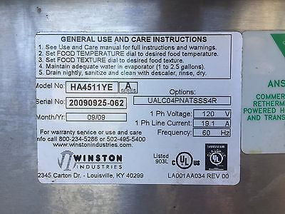 Winston Industries HA4511YE CVAP Holding Cabinet 120V With Four Shelves