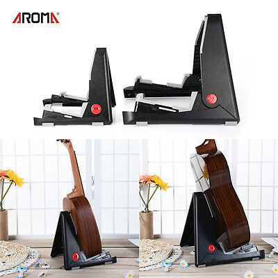 AROMA Folding Electric Acoustic Bass Guitar Stand A Frame Floor Rack Holder New