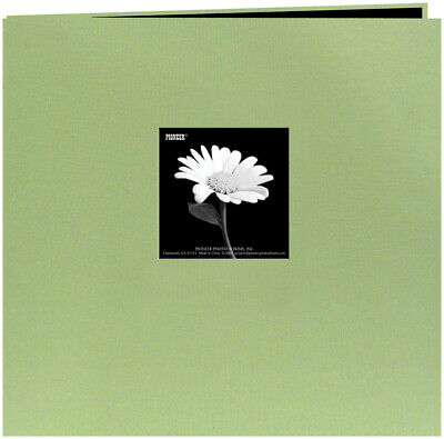 "Pioneer  Book Cloth Cover Post Bound Album 12""X12""-Sage Green"