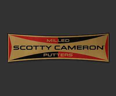 Scotty Cameron Retro Rectangle Milled Putters Gold-Red Sticker - NEW! SOLD OUT!!