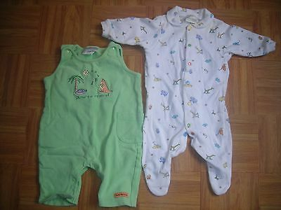 LOT 2 BOYS GIRLS VTG CARTERS sz 0-3 Months John Lennon REAL LOVE SLEEPER  JUMPER