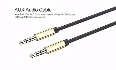 2 x AUX Cable 3.5mm Stereo Audio Input Extension Cable