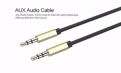 AUX Cable 3.5mm Stereo Audio Input Extension Cable for Music Systems, Phones,etc