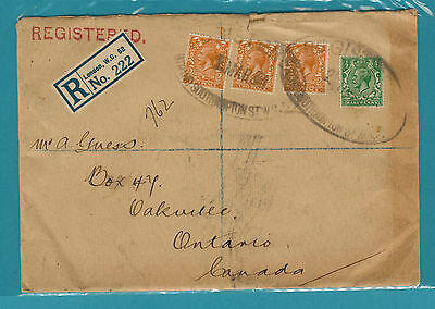 1933 Registered Cover to CAN Great Cancels