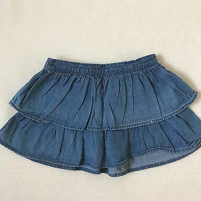Gymboree Girls Denim Ruffle Tiered Skirt, Size 2T