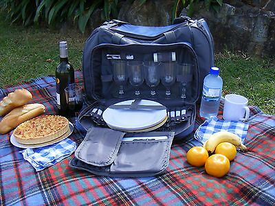 NEW Outdoor 6 Person Picnic Set with Large Cooler