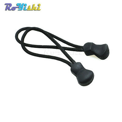 Zipper Pull Cord Strap Lariat Black for Apparel Gym Suit Backpack Accessories