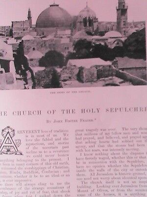 Church of Holy Sepulchre Jerusalem Stone Unction Rare Old Antique Article 1901