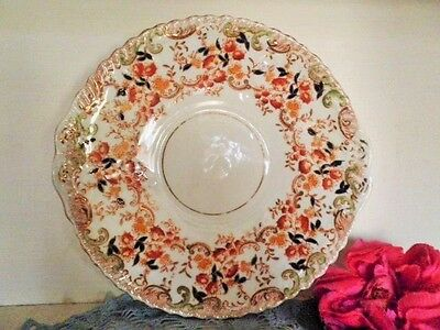 ANTIQUE CAKE PLATE IMARI VICTORIAN FINE BONE CHINA see MORE LISTED