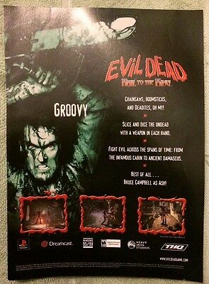 Evil Dead Hail to the King Poster Ad Print Playstation
