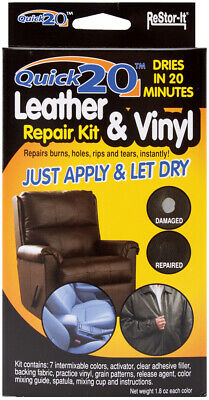 Restor-It 18081 Quick 20 Leather & Vinyl Repair Kit-