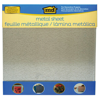 "M-D Hobby & Craft 57355 Magnetic Steel Sheet 12""X12""-Silver (3Pk)"
