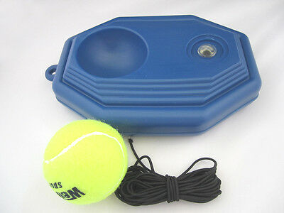 Single Tennis Training Portable Drill Back Base Practice Training Aid & 1 Balls
