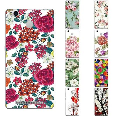 Cases For Xiaomi Redmi 3 Pro 3S Soft TPU Silicone Protective Back Cover Flowers