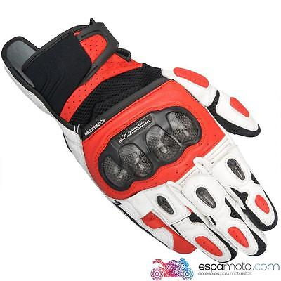 Guantes ALPINESTARS SPX AIR CARBON BLACK / WHITE / RED
