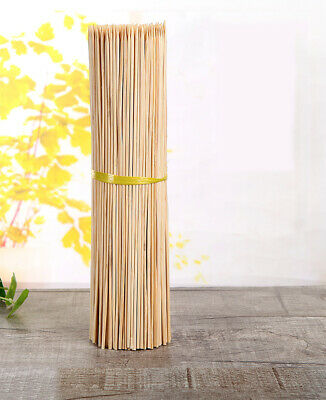 200x  Wooden Skewers Bamboo Sticks For BBQ Kebab Fruit Chocolate Fountain 30CM
