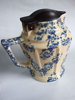 Antique Hecla Australian Pottery  Mottled Blue Art Deco Electric Jug C.1930's