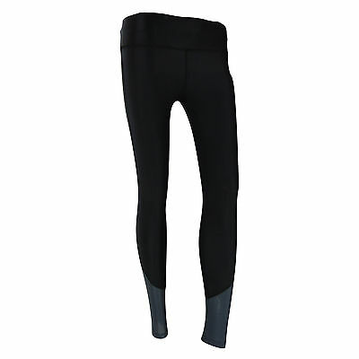 Womens Black High Waist Full Length Compression Pants Tights Ladies Running
