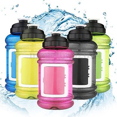 UK 2.2L Large BPA Free Sport Gym Training Drink Water Bottle with Storage Case