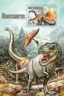 Z08 IMPERFORATED MOZ16203b MOZAMBIQUE 2016 Dinosaurs MNH